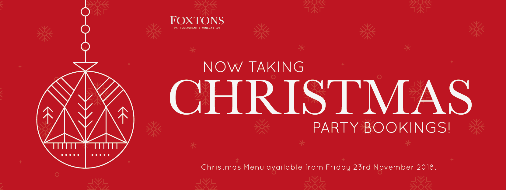 Now taking Christmas Party Bookings 2018 - Foxtons Winebar ...